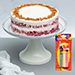 Classic Red Velvet Peanut Butter Cake With Candles