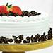 Delish Black Forest Happy Birthday Cake