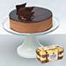 Irresistible Crunchy Chocolate Cake With 16 Pcs Ferrero Rocher