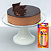 Irresistible Crunchy Chocolate Cake With Candles