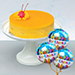 Tangy Mango Mousse Cake With Birthday Balloons