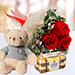 3 Red Roses With Chocolate Combo