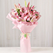 6 Passionate Oriental Pink Lilies