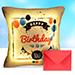 Happy Birthday Led Cushion With Greeting Card