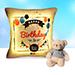 Happy Birthday Led Cushion With Teddy Bear